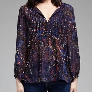 Joie Multicolor Silk Paisley Vandrea Sheet Blouse